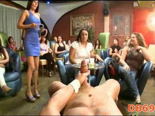 Nude stripper gets tons of blowjobs