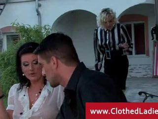 Clothed  Outdoor Threesome