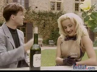 Blonde Drunk  Outdoor Pornstar Vintage
