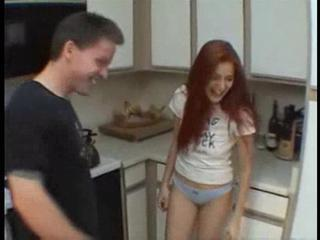 Kitchen Panty Redhead Teen