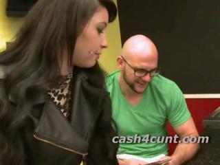 Which girl will take cash to fuck as a pornstar laughs his way to pussy