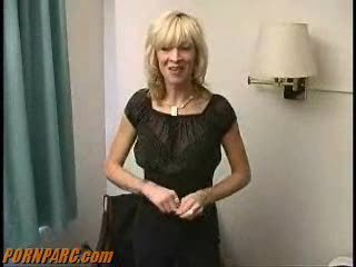 Blonde Mature Stripper