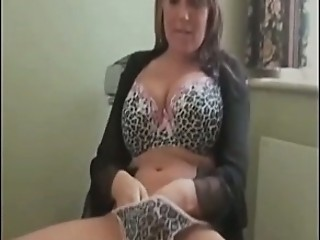 Amateur Big Tits Lingerie Masturbating  Solo