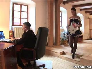 Sexy maid loves pussy and cock