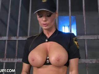 Amazing Big Tits  Natural Prison Uniform