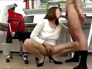 Asian Blowjob  Office Secretary