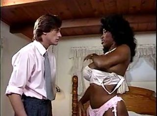 Big Tits Ebony Interracial Lingerie  Vintage