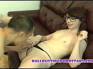 Teen SchoolGirl Ballbusting and DickFlashing with Dakota
