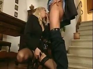 Blowjob Clothed European Italian  Stockings Vintage