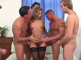 European Gangbang Hardcore  Panty Stockings