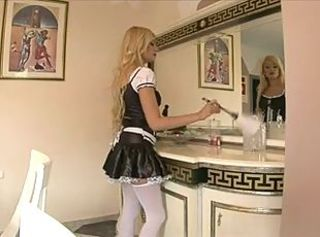 Blonde Maid Anally Fucked