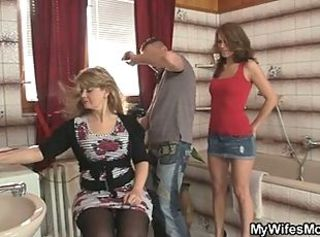 Daughter Mom Threesome