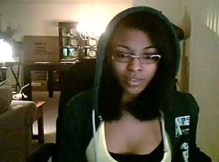 Ebony Glasses Teen Webcam