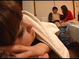 Asian Mom Sleeping Wife