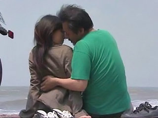 Asian Beach Japanese Kissing Outdoor