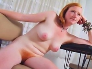 REAL REDHEAD ISADORA NICE PINK TITS HAIRY PINK RED BU...