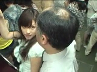 Asian Daddy Old and Young Public Teen