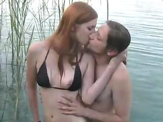 Beach Bikini Kissing Russian Teen