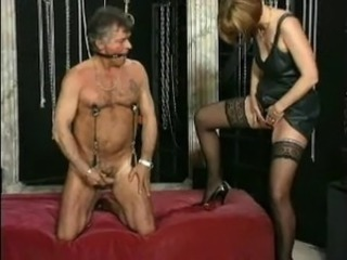 HOT MOM n143 blonde full-grown milf and her slave