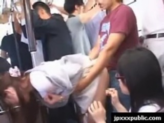 Asian Bus Clothed Japanese Public Teen