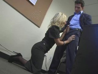 Amazing  Blonde Blowjob Clothed  Office Secretary