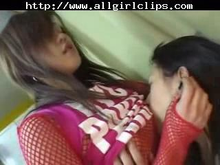 Japanese Babes in hot lesbo sex