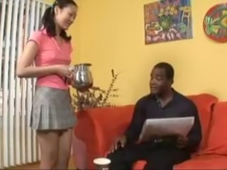 Evelyn Lin Gets A Taste Of Black Man's Cum
