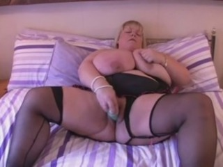 Big Tits Masturbating Mature Stockings Toy