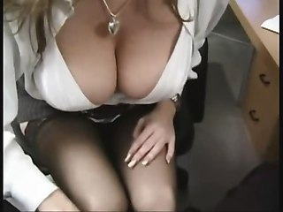 Fat Titty Office Slut In Stockings Outlandish For Cock