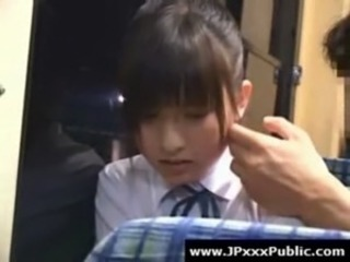 Asian Bus Japanese Public Teen