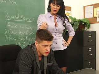 Busty french teacher Eva Karera takes a pounding from her favorite student