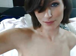 Hot Babe With Huge Tits Rubs her Clit to Orgasm