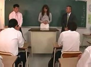 japanese teacher fucked by her students & teachers 3