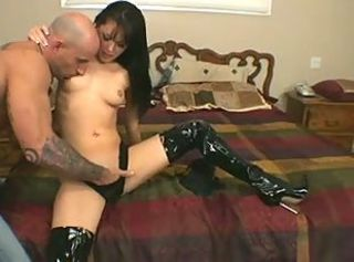 JP screwed in latex boots