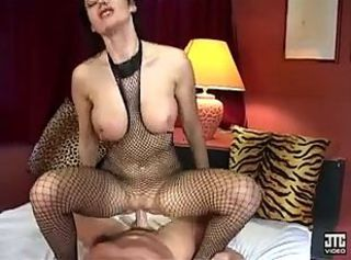 Big Tits European Fishnet French  Riding