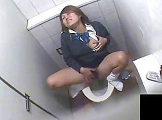 Asian Masturbating Toilet Voyeur