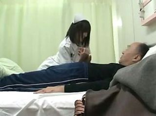 Young Nurse Service encircling Old Man 1