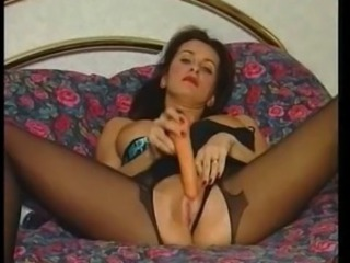 Dildo Masturbating  Pantyhose Shaved Toy