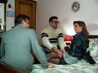 European French  Stockings Threesome