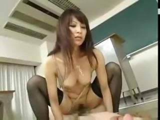 Asian Japanese  Riding School Stockings Teacher