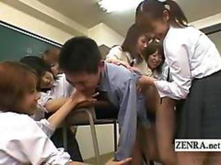 Asian Femdom Japanese School Student Teacher Teen Uniform