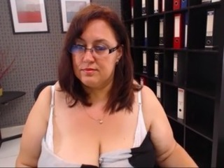 Glasses Mature Office Secretary Webcam