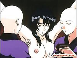 Chained Hentai Girl In Ritual Sex