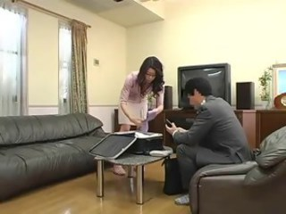 mom having sex while her daughter studying 4 Maki Hojo