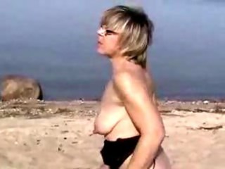 Amateur Beach Mature Outdoor