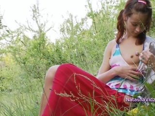 Cute Outdoor Pigtail Teen