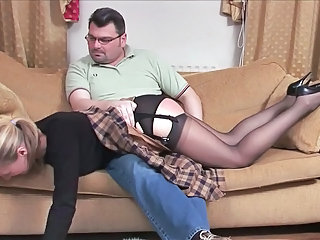 Old and Young Panty Spanking Stockings