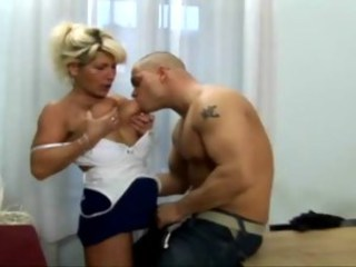 Blonde Mature Mom Natural Old and Young