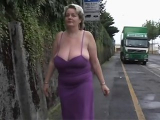 Big Tits Mature Mom Natural Outdoor Public