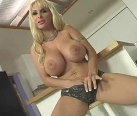 Amazing Big Tits Blonde Masturbating  Panty